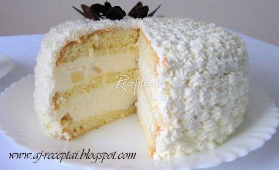 Jogurtinis tortas su vaisiais