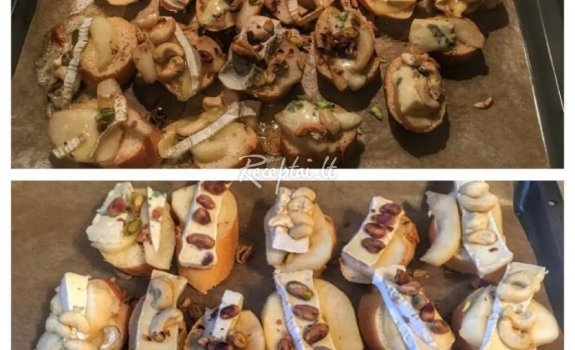 Karši sumuštiniai su pelėsiniu sūriu