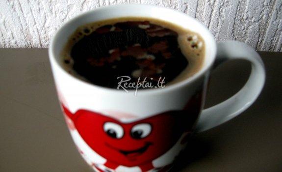 Šokoladinė kava su vanile