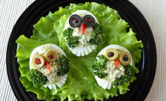 Įdaryti kiaušiniai ,,Paukščiukai''