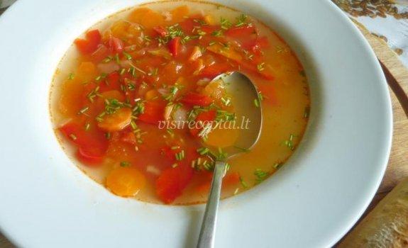 Tiršta daržovių sriuba