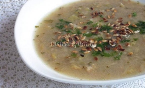 Itališka kopūstų sriuba su grūdais