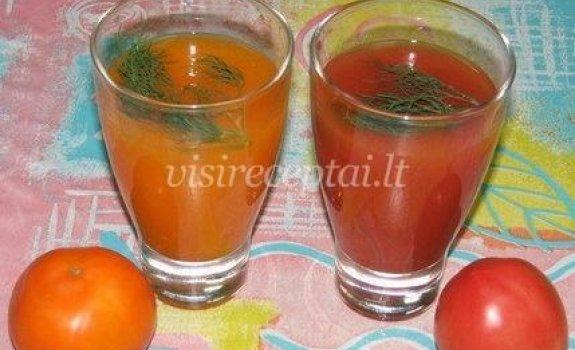 Gėriams iš pomidorų