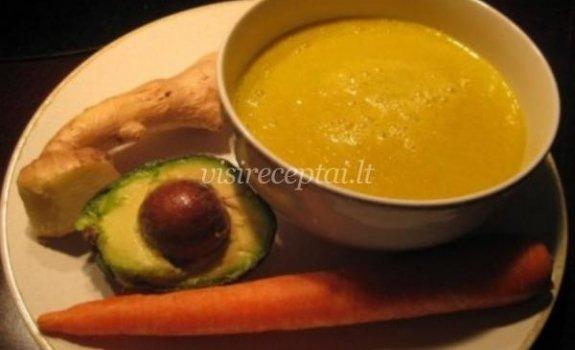 Imbierinė avokadų sriuba