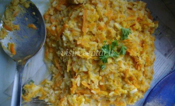 Lęšių ir ryžių pikantiška košė