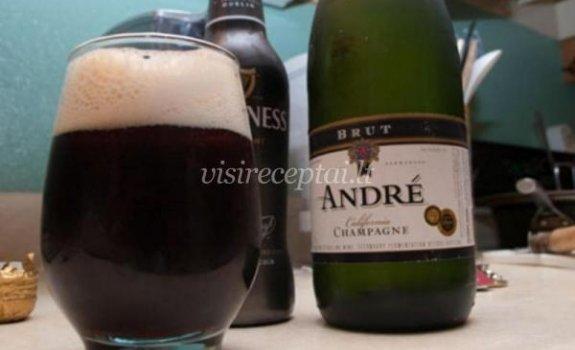 Alaus ir putojančio vyno kokteilis