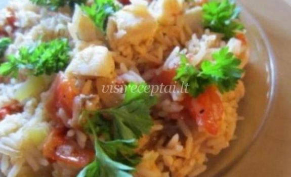 Ryžių salotos su žuvimi