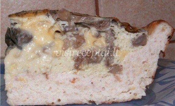 Vištienos pyragas su grybais