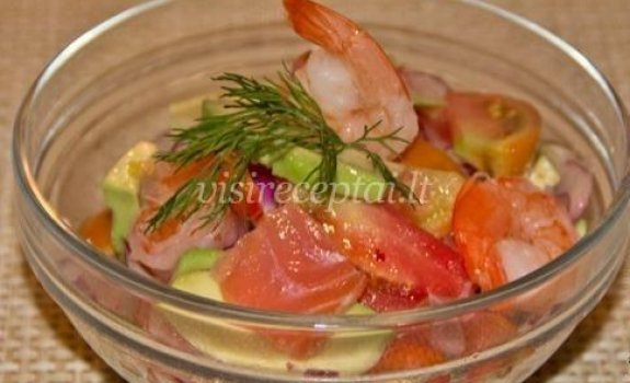 Norvegiškos salotos su jūros gėrybėmis