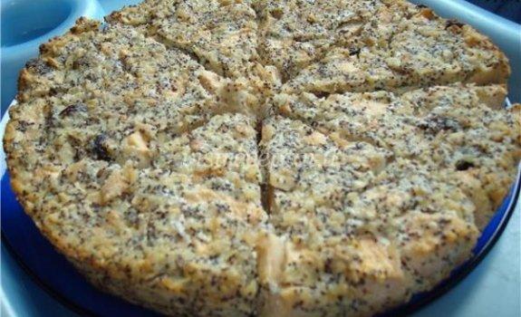 Obuolių ir aguonų pyragas