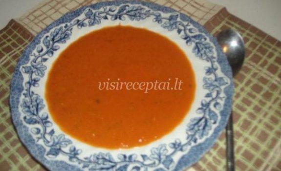 Pomidorų ir bazilikų sriuba