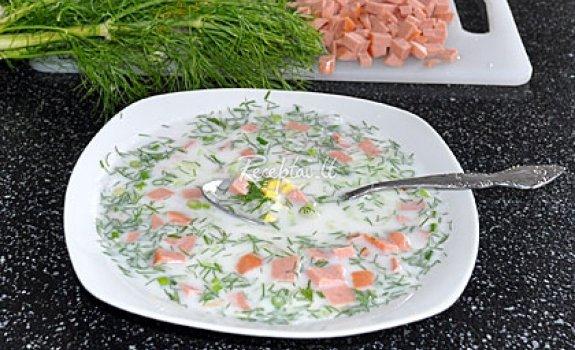 Šalta daržovių sriubytė