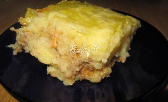 Mėsos - bulvių apkepas