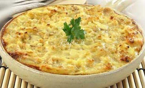 Bulvių ir varškės apkepas