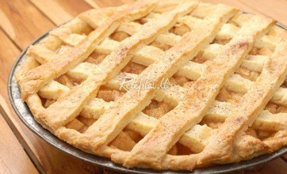 """""""Amerikietiškas"""" obuolių  pyragas"""