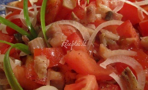 Silkės salotos šventėms