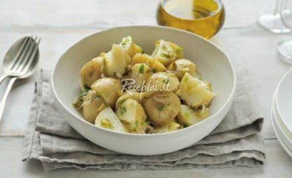 Bulvių mišrainė Kūčioms