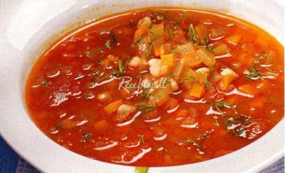 Pikantiška daržovių sriuba