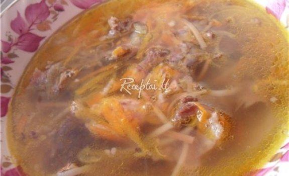 Kazlėkų sriuba su jautiena