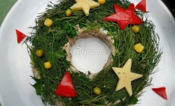 Salotos Kalėdų stalui