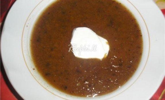 Duoninė sriuba su slyvomis