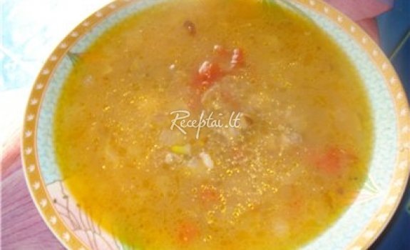 Vištų širdelių ir raugintų agurkų sriuba