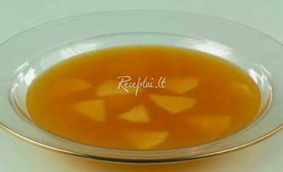 Šalta obuolių sriuba