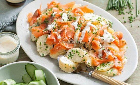 Bulvių salotos su lašiša