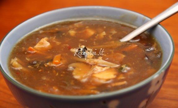 Rūgščiai aštri kinietiška sriuba