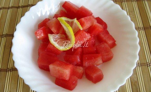 Citrininiai arbūzų ledukai