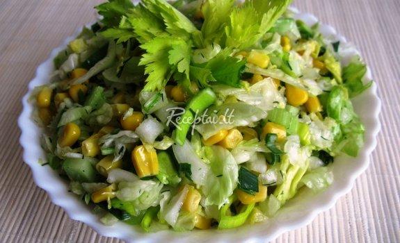 Žaliai  geltonos salotos