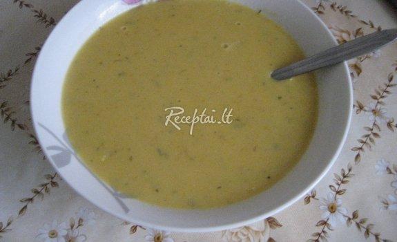 Trinta moliūgų sriuba su pievagrybiais ir sūriu